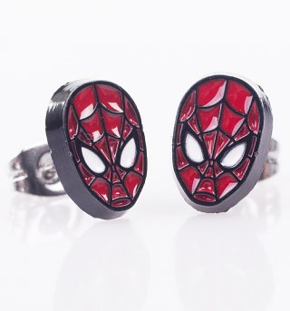 Marvel Spider-Man Mask Stud Earrings