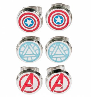 Marvel The Avengers Set Of 3 Stud Earrings