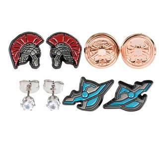 Marvel Thor and Hulk Set Of 4 Stud Earrings