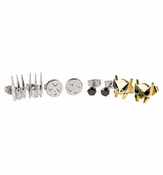 Marvel Wolverine Set Of 4 Stud Earrings