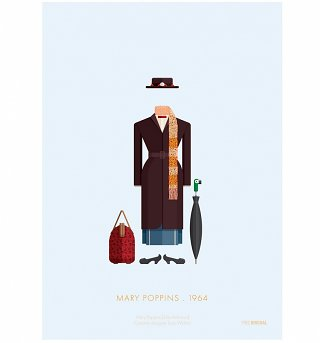 "Mary Poppins Costume 11"" x 14"" Art Print"