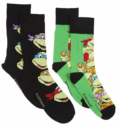 Men's 2 Pack Teenage Mutant Ninja Turtles Socks