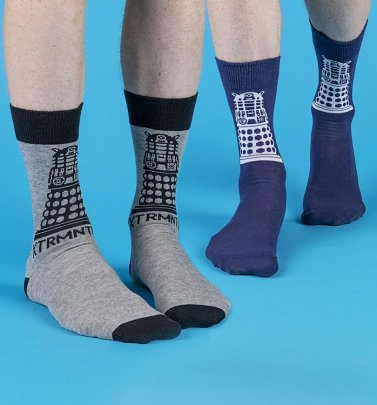Men's 2pk Doctor Who Dalek Socks