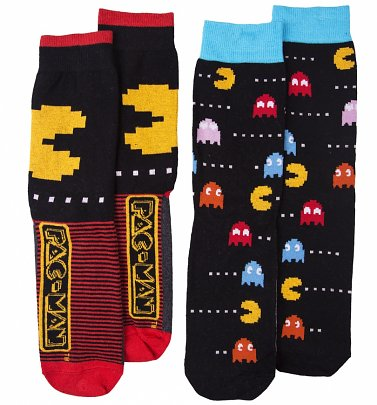 Men's 2pk Pac-Man Socks