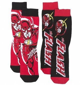 Men's 2pk The Flash DC Comics Socks