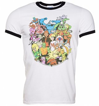 Men's 90s Cartoons Collection Ringer T-Shirt