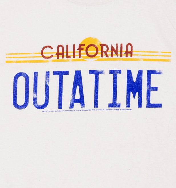 Men's Back to the Future Outatime Off White T-Shirt