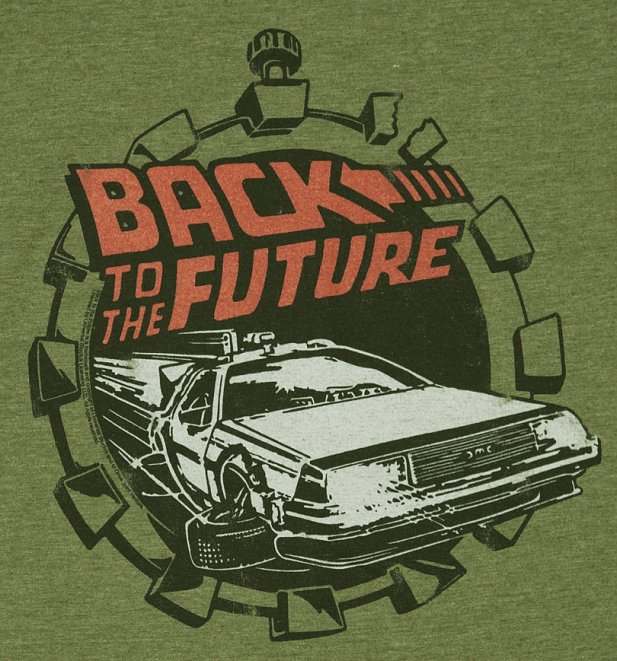 Men's Back to the Future Retro Delorean T-Shirt