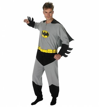 Men's Batman Costume Fancy Dress Onesie