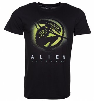 Men's Black Alien Covenant Xeno Silhouette T-Shirt