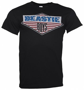 Men's Black Beastie Boys Logo T-Shirt