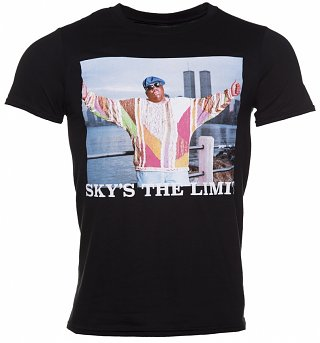 Men's Black Biggie Smalls Sky's the Limit T-Shirt