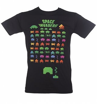 Men's Black Classic Space Invaders T-Shirt