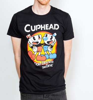 Men's Black Cuphead T-Shirt