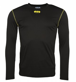 Men's Black DC Comics Batman Long Sleeve Performance T-Shirt