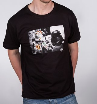 Men's Black Darth Vader Stormtrooper Star Wars Inked T-Shirt from Chunk