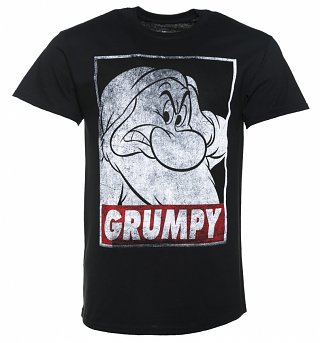 Men's Black Disney Snow White And The Seven Dwarfs Grumpy T-Shirt