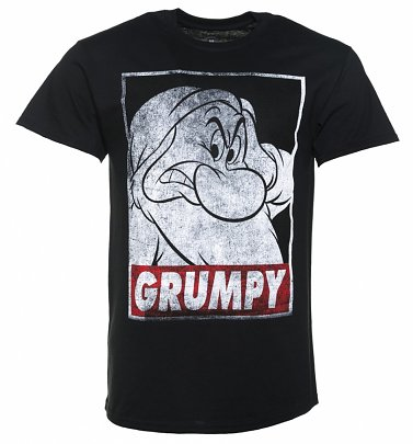 2f82d866 20% Off Men's Black Disney Snow White And The Seven Dwarfs Grumpy T-Shirt