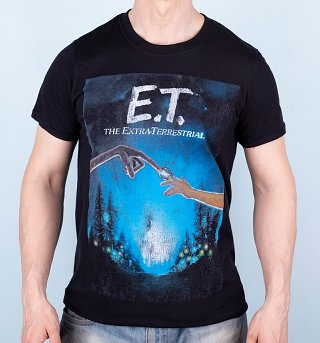 Men's Black E.T Movie Poster T-Shirt