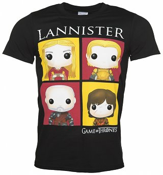 Men's Black Game Of Thrones Lannister Funko T-Shirt
