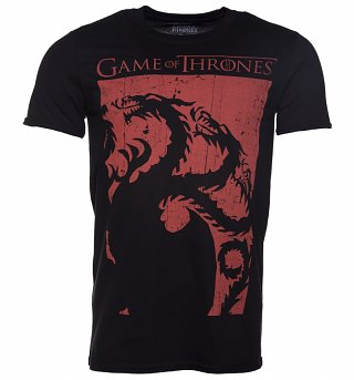 Men's Black Game Of Thrones Targaryen T-Shirt