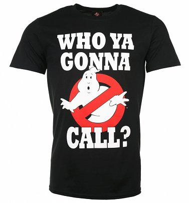Men's Black Ghostbusters Who Ya Gonna Call T-Shirt