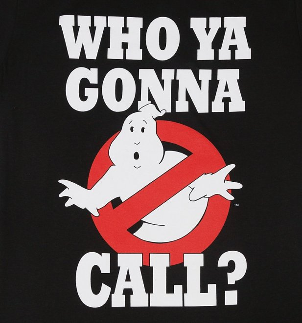 Men's Black Ghostbusters Who Ya Gunna Call T-Shirt