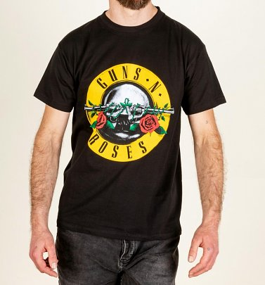 Men's Black Guns N Roses Classic Logo T-Shirt