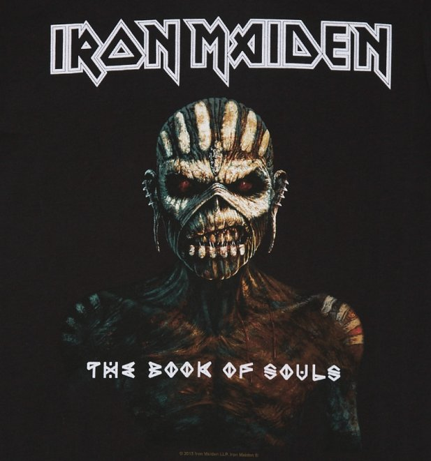 Men's Black Iron Maiden Book Of Souls T-Shirt from Amplified