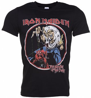 Men's Black Iron Maiden Number Of The Beast T-Shirt