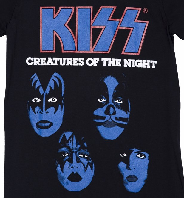 Men's Black KISS Creatures Of The Night T-Shirt