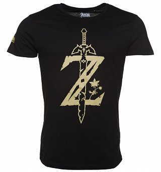 Men's Black Legend Of Zelda Big Z Logo T-Shirt