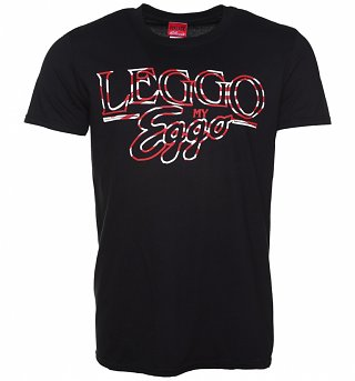 Men's Black Leggo My Eggo Kellogg's T-Shirt