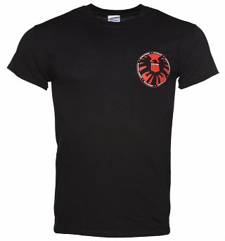 Men's Black Marvel Comics Agent Of S.H.I.E.L.D. Logo T-Shirt