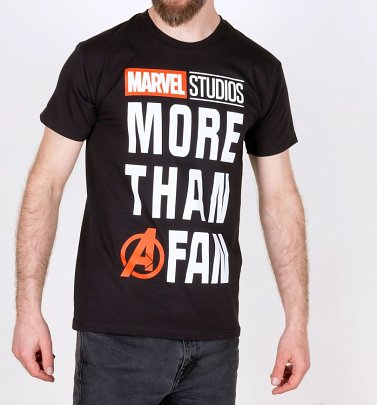 Men's Black Marvel Comics More Than A Fan T-Shirt