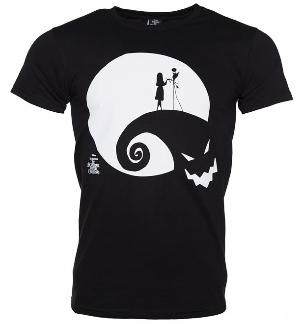 Men's Black Moon Oogie Boogie Nightmare Before Christmas T-Shirt