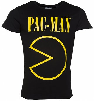 Men's Black Pac-Man Grunge T-Shirt