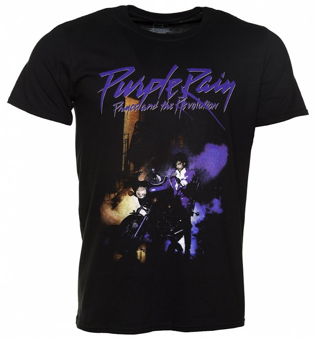 Men's Black Prince Purple Rain T-Shirt
