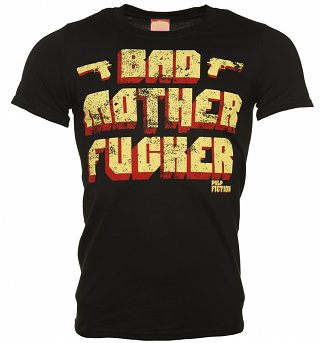 Men's Black Pulp Fiction Bad Mother F****r T-Shirt