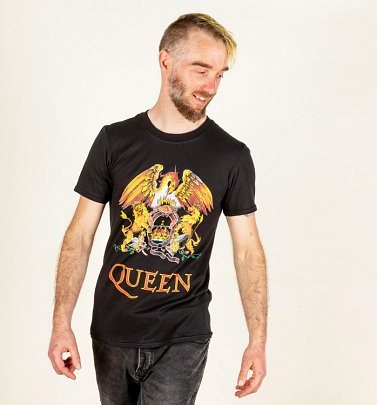 Mens Black Queen Crest T-Shirt
