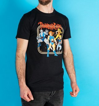 Men's Black Retro ThunderCats Group T-Shirt
