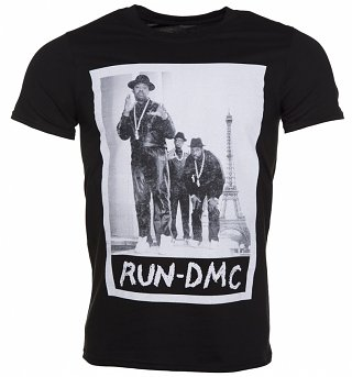 Men's Black Run DMC Paris Photo T-Shirt