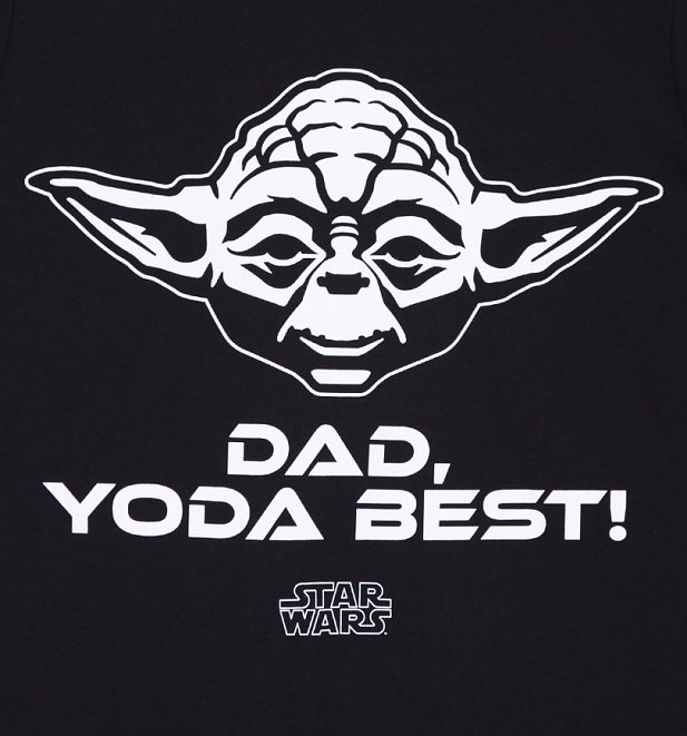 Men's Black Star Wars Dad Yoda Best T-Shirt