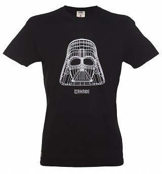 Men's Black Star Wars Darth Vader Wire Frame T-Shirt from Chunk