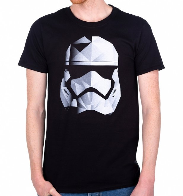 Men's Black Star Wars Geo Stormtrooper T-Shirt
