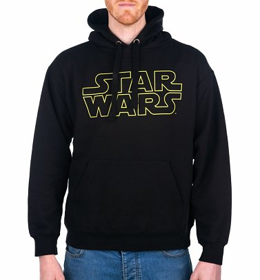 Men's Black Star Wars Logo Hoodie