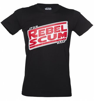Men's Black Star Wars Rebel Scum T-Shirt