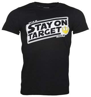 Men's Black Star Wars Stay On Target T-Shirt