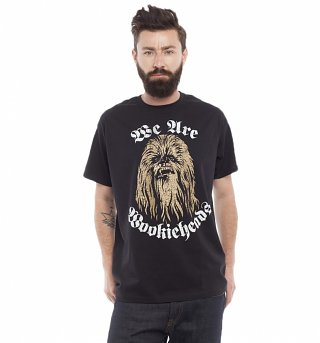Men's Black Star Wars We Are Wookieheads T-Shirt