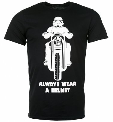 Men's Black Stormtrooper Always Wear a Helmet T-Shirt